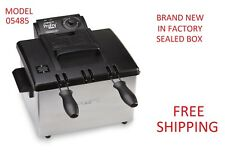Electric PRESTO Stainless Steel Countertop Deep Fryer with Dual Double Basket