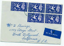 Great Britain 1946 First Day Cover #265 Wwii Peace Issue w/ letter Plymouth - Us