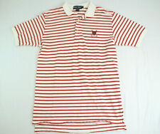 Mens Ralph Lauren Polo Golf Red Striped Polo Size Large