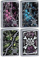 Zippo Moon Shine Camo Set Of 4,Muddy Girl 29591,Undertow 29592,Toxic 29593,29594