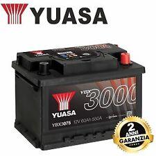 YBX3075 BATTERIA YUASA 12V 60 AH 550 FORD FIESTA 2 6 cc 1.0 1.1 1.4 1.6 TDCI