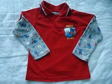 NEW Boy's size 4T Cookie Monster Basketball Cookie Dunk Red Long Sleeve Jersey
