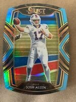 2020 Panini Select Josh Allen Club Level Light Blue Die Cut Prizm #222 Bills