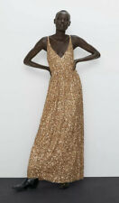 Zara Limited Edition Gold Sequin Maxi Dress BNWT Size M RRP £119