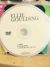 music video DVD ELLIE GOULDING  On My Mind  Army love me like yo do Delirium