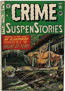 CRIME SUSPENSTORIES #5 drowning cvr pre-code horror INGELS CRAIG DAVIS KAMEN EC