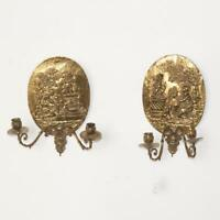 Antique Sconces, Bronze, Dore, Neo-Classical Relief  19th C., 1800s, Lovely!!!