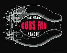 Chicago Cubs Baseball Poster Art Print Bar Bathroom Wall Decor Fan Gift MVP670