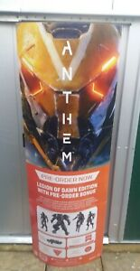 ANTHEM VIDEO GAME STORE DISPLAY KIT STANDEE, POSTER, CUBE, WOBBLER PS4 XBOX ONE