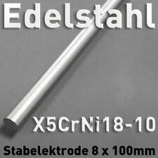 Edelstahl-Stab-Anode Elektrode 100 x 8mm Galvanik V2A 1.4301 rund Elektrolyse cm