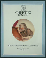 CATALOGUE VENTE ENCHERES - CHRISTIE'S - CONTINENTAL CERAMICS - FAIENCE PORCELAIN