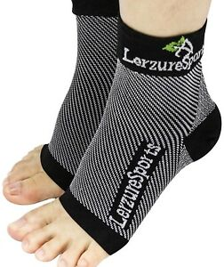 Plantar Fasciitis Relief Arch Support Compression Ankle Brace Sock - Black