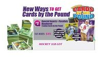 Hockey Trading Cards by the Pound 1LB of Inserts, Parallels, Numbered Cards