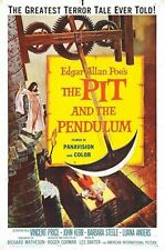 The Pit and The Pendulum Edgar Allan Poe Vintage Film Movie Poster Art Print A4