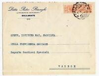 R.S.I. - Pacchi c 50 isolato - da Gallarate x Varese - 7 agosto - 1944