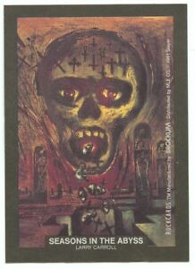 Seasons in the Abyss Slayer sticker insert Brockum RockCards 1991