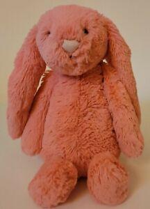 Jellycat London Bunny Bashful Coral?? Plush Stuffed Animal Toy Pink Rabbit HTF