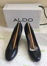 New ALDO Womens Leather Black Shoes Pumps Heels 9 US 40 EU NIB