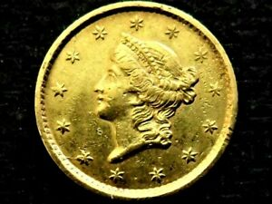 A Beautiful 1852 Type I Gold One Dollar!!!!