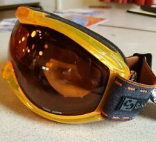 Sinner ski goggle. Toxic. Teenage/Adult. Double lens. UV400. Clear orange frame.