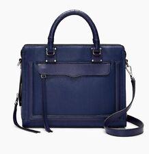 NWT REBECCA MINKOFF Bree Medium Leather Satchel Bag NAVY Blue 100% AUTHENTIC!