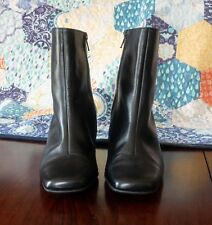 Beautiful quality leather high ankle boots black Evans size 4W/4.5 BNWT