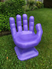 """GIANT Light Purple right HAND SHAPED CHAIR 32"""" 70's Retro EAMES iCarly NEW"""