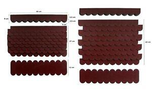 2 Sets,Mini-Dachschindeln Weinrot,Pappe,Vogelhaus,Holzgestell,Spielhaus,Hasen