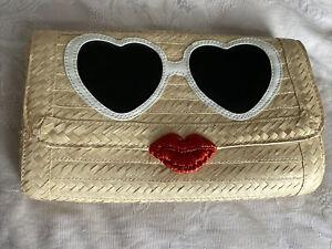KATE SPADE New York Sunglasses face straw clutch bag Hello Stranger