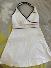 Lacoste Sport Women France Tennis Dress White with red and blue stripe Size 40