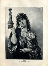 Jessika - N. Sichel -- Holzstich - aus 1893