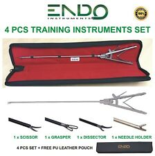 Nouveau endoscopie laparoscopy formation porte-aiguille pince ciseaux Extracteur Set 4
