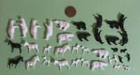 ho scale BEAR & ZEBRA ANIMAL KIT for Model Circus Train Layouts - Unpainted