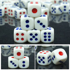 20Pcs Six Sided Square Opaque 10mm D6 Dice Portable Table Games Bar Party Tool
