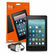 All New Model Amazon Fire 7 Tablet 8 GB 7th Generation 2017 Release - Black