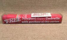 Vintage NEWPORT STRIPES CIGARETTES BRIGHT. PINK UMBRELLA NIB AWESOME!