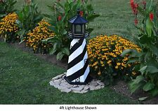 Amish-Made Replica Cape Hatteras, Nc Lighthouse with Lighting - In 13 Sizes!