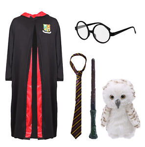 WIZARD ROBE COSTUME ACCESSORIES BOOK DAY SCHOOL UNISEX ADULTS CHILDS FANCY DRESS