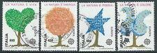 1986 ITALIA USATO EUROPA SALVAGUARDIA NATURA DA BLOCCO - D3-6