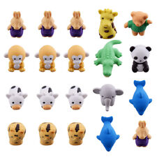 20Pcs Cute Animal Rubber Eraser Set Stationery Novelty Children Party Gift