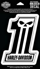 Harley-Davidson® #1 Dark Custom Skull Logo Car Sticker Decal DC718303