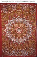 INDIAN Mandala Red STAR ROUND Multi Art Tapestry Ceiling TWIN MULTI Bedding SB11