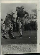 1951 Press Photo Golfers Walter Burkemo & Sammy Snead, Oakmont, Pennsylvania