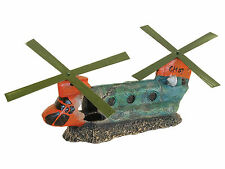 Helicopter Chinook Fish Cave Aquarium Ornament Fish Tank Decoration