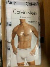 NEW  Calvin Klein 3-Pack Men's Boxer Briefs Underwear White  size S