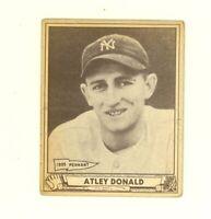 1940 Play Ball  #121 Richard Atley Donald New York Yankees VG/EX no creases