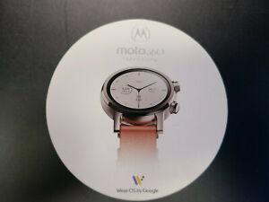 Mint in Box Motorola Moto360 3rd Gen 2020 - Wear OS by Google Steel Gray