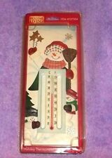 "Snowman HOLIDAY LIVING THERMOMETER 10"" TALL"