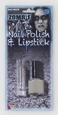 Zombie Nail Polish Lipstick Makeup Walking Dead Grey Halloween Costume Accessory