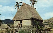 fiji islands, Native Chief's House (1960s) Caine's Studios 1002